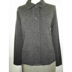 veste tricot avec col